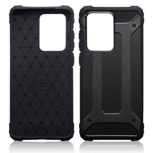 Samsung Galaxy S20 Ultra hoesje, Dubbel gelaagde pantsercase, Zwart