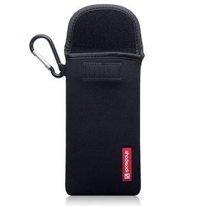 Hoesje voor Samsung Galaxy Z Flip, Shocksock neopreen pouch met karabijnhaak, insteekhoesje, zwart