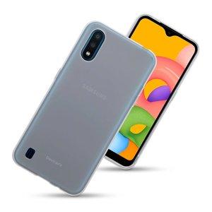 Samsung Galaxy A01 hoesje, Transparante gel case, Volledig doorzichtig