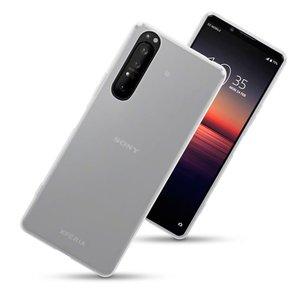 Sony Xperia 1 II hoesje, Transparante gel case, Mat doorzichtig