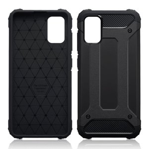 Samsung Galaxy A41 hoesje, Dubbel gelaagde pantsercase, Zwart