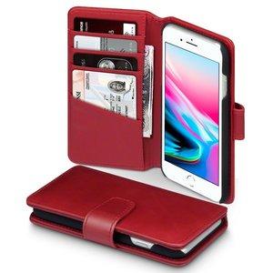 Apple iPhone SE (2020) / iPhone 7 / iPhone 8 hoesje, MobyDefend luxe echt leren bookcase, Rood