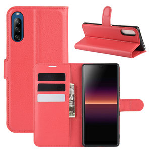 Sony Xperia L4 hoesje, Wallet bookcase, Rood