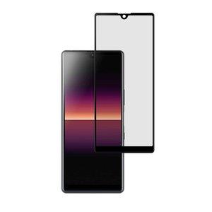 Sony Xperia L4 screenprotector, Full screen tempered glass (glazen screenprotector), Zwarte randen