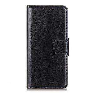 Samsung Galaxy Note 20 hoesje, Wallet bookcase, Zwart