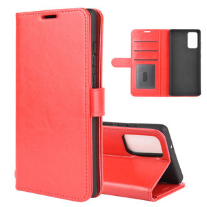 Samsung Galaxy Note 20 hoesje, Wallet bookcase, Rood