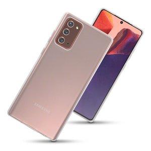 Samsung Galaxy Note 20 hoesje, Transparante gel case, Volledig doorzichtig