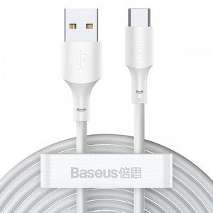 Baseus USB-C naar USB-C kabel, 1,5 Meter, Wit