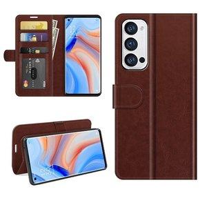 Oppo Find X3 Neo hoesje, MobyDefend Wallet Book Case (Sluiting Achterkant), Bruin