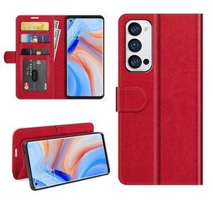 Oppo Find X3 Neo hoesje, MobyDefend Wallet Book Case (Sluiting Achterkant), Rood