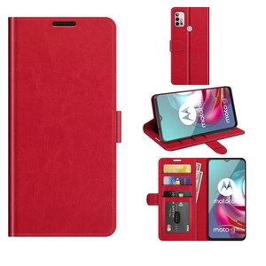 Motorola Moto G30 / G20 / G10 hoesje, MobyDefend Wallet Book Case (Sluiting Achterkant), Rood
