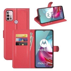 Motorola Moto G30 / G20 / G10 hoesje, MobyDefend Kunstleren Wallet Book Case, Rood