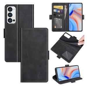 Oppo Find X3 Neo hoesje, MobyDefend Luxe Wallet Book Case (Sluiting Zijkant), Zwart