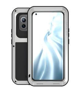 Xiaomi Mi 11 Hoes, Love Mei, Metalen Extreme Protection Case, Zilvergrijs
