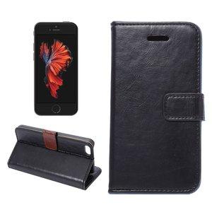 Apple iPhone 5 / iPhone 5S / iPhone SE hoesje, 3-in-1 bookcase, zwart