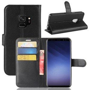 Samsung Galaxy S9 hoesje, 3-in-1 bookcase, zwart