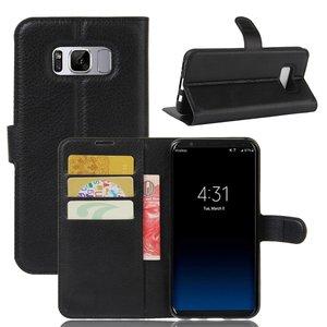 Samsung Galaxy S8 hoesje, 3-in-1 bookcase, zwart