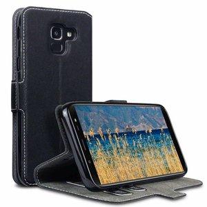 Samsung Galaxy J6 (2018) hoesje, 3-in-1 bookcase extra dun, zwart