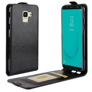 Samsung Galaxy J6 (2018) hoesje, flipcase, zwart