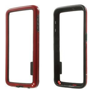 Samsung Galaxy S6 hoesje, bumper case, zwart-rood