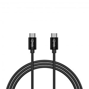 BeHello USB-C naar USB-C oplaadkabel (1 meter) 2.1A, zwart