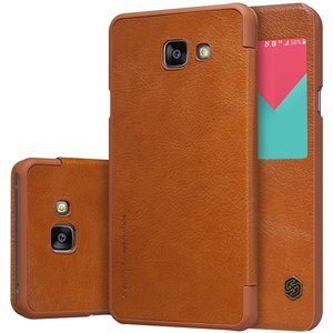 Samsung Galaxy A5 (2016) hoesje, Nillkin Qin series bookcase, cognac bruin