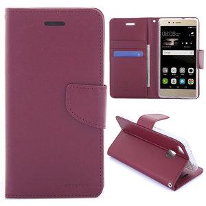 Huawei P9 Lite hoesje, 3-in-1 bookcase, donker rood