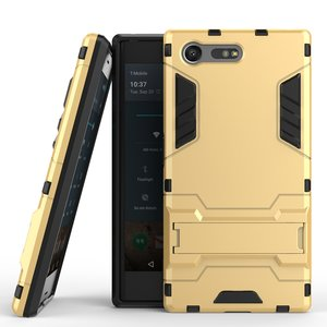 Sony Xperia X Compact hoesje, extreme protection hardcase met standaard, goud