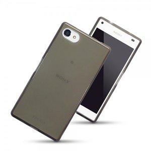 Sony Xperia Z5 Compact hoesje, gel case, doorzichtig grijs