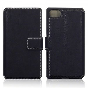 Sony Xperia Z5 Compact hoesje, 3-in-1 bookcase extra dun, zwart