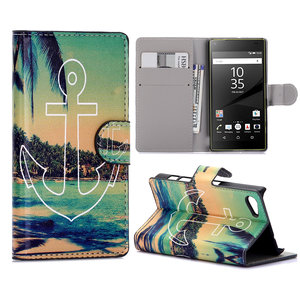 Sony Xperia Z5 Compact hoesje, 3-in-1 bookcase, anker