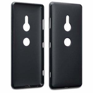 Sony Xperia XZ3 hoesje, gel case, mat zwart