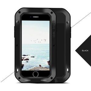 Apple iPhone 7 Plus / iPhone 8 Plus hoes, Love Mei, metalen extreme protection case, zwart