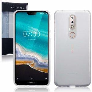 Nokia 7.1 (2018) hoesje, gel case, doorzichtig
