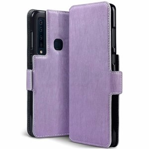 Samsung Galaxy A9 (2018) hoesje, MobyDefend slim-fit extra dunne bookcase, Paars