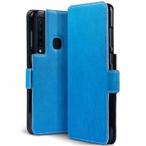 Samsung Galaxy A9 (2018) hoesje, MobyDefend slim-fit extra dunne bookcase, Blauw