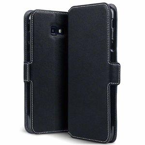 Samsung Galaxy J4 Plus hoesje, 3-in-1 bookcase extra dun, zwart