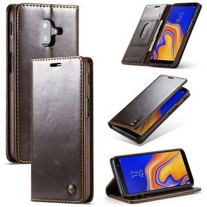 Samsung Galaxy J6 Plus hoesje, CaseMe bookcase, bruin
