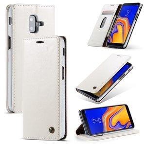 Samsung Galaxy J6 Plus hoesje, CaseMe bookcase, wit