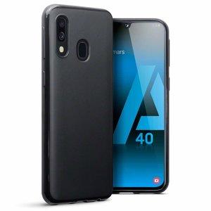 Samsung Galaxy A40 hoesje, gel case, mat zwart