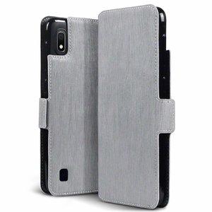 Samsung Galaxy A10 hoesje, 3-in-1 bookcase extra dun, grijs