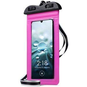 Waterdicht universeel telefoonhoesje, waterproof case, roze