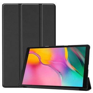 Tablethoes voor Samsung Galaxy Tab A 10.1 (2019), Tri-fold smartcover bookcase, zwart