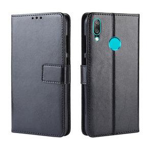 Huawei Y7 (2019) hoesje, 3-in-1 bookcase, zwart